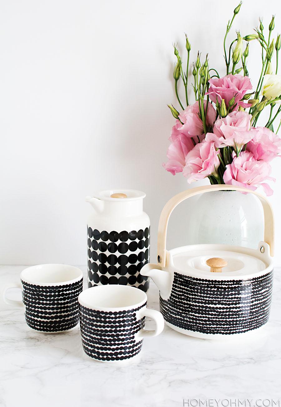 Tea Set- Marimekko Rasymatto