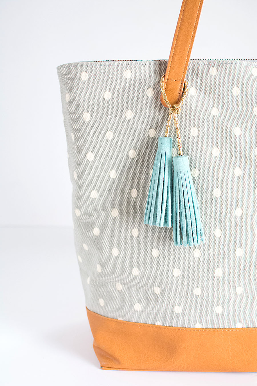 Suede leather tassels DIY