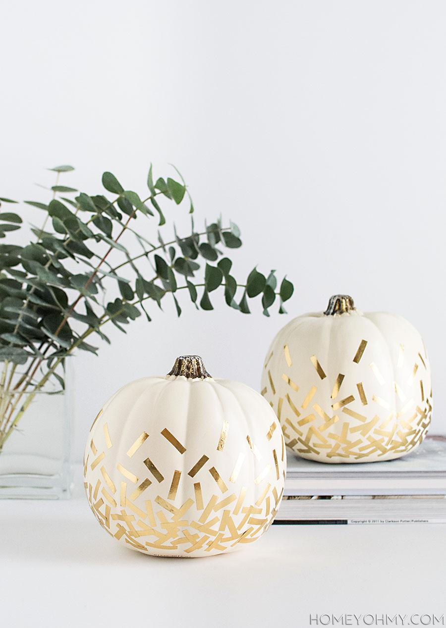 Gold Confetti Pumpkins