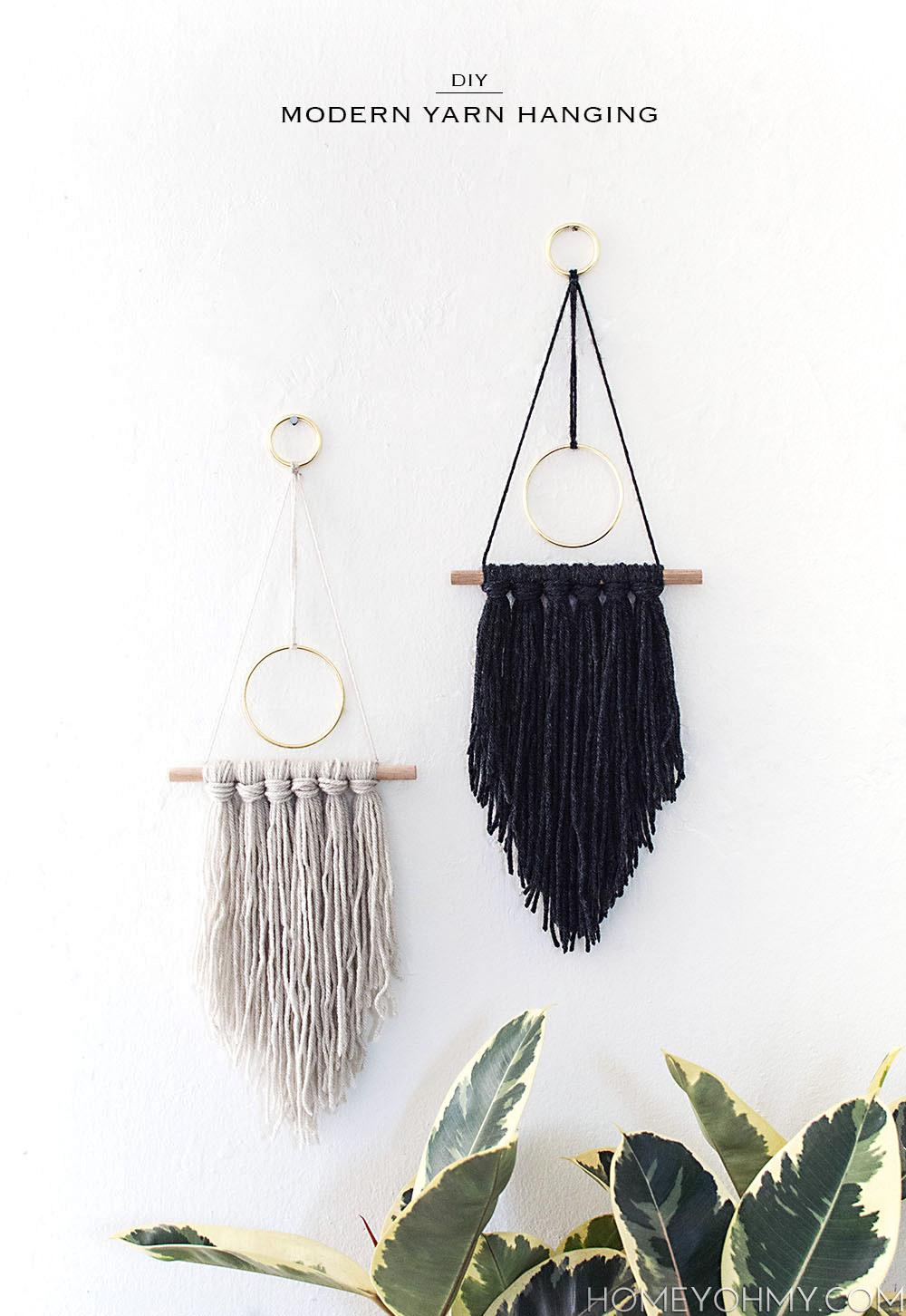 DIY- Modern Wall Hanging