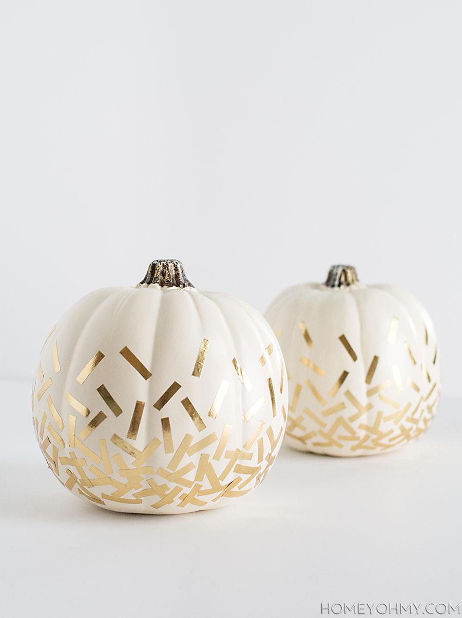Gold Confetti Pumpkins DIY