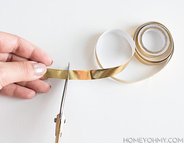 Gold Washi tape