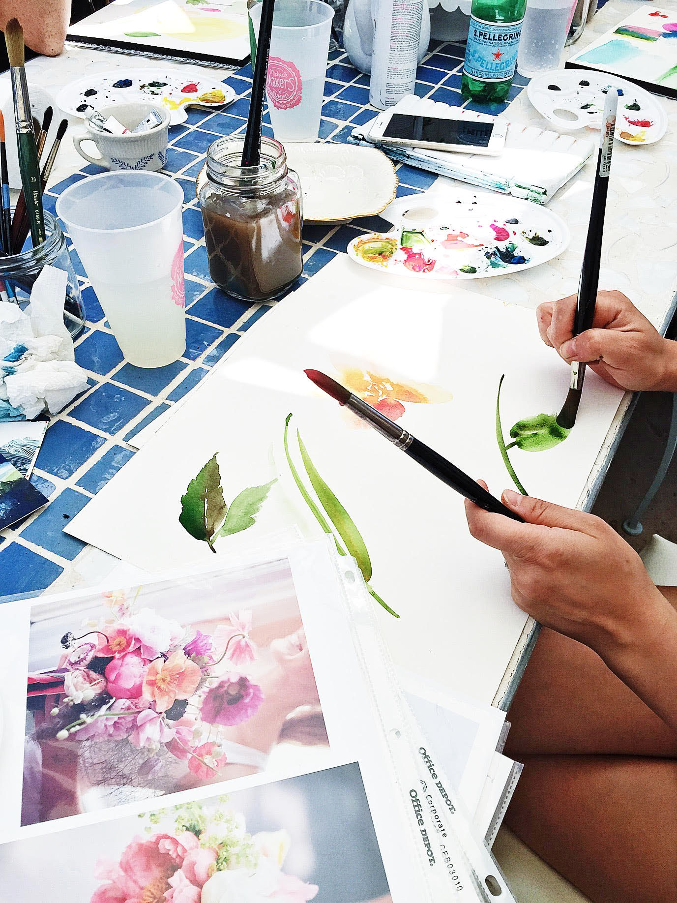 watercolors with Yao Cheng