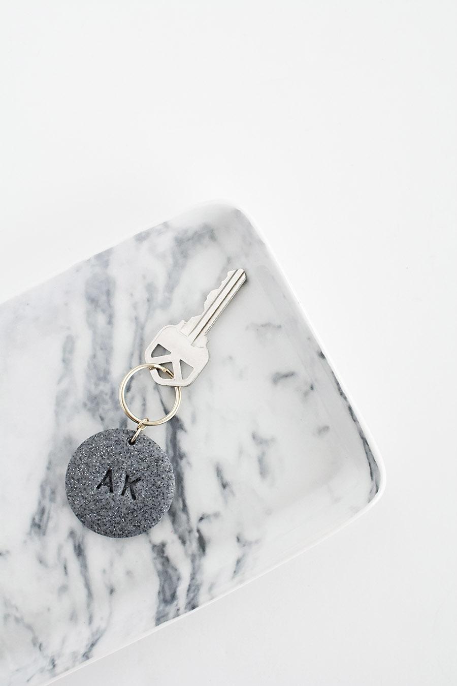 DIY Monogram Clay Keychain