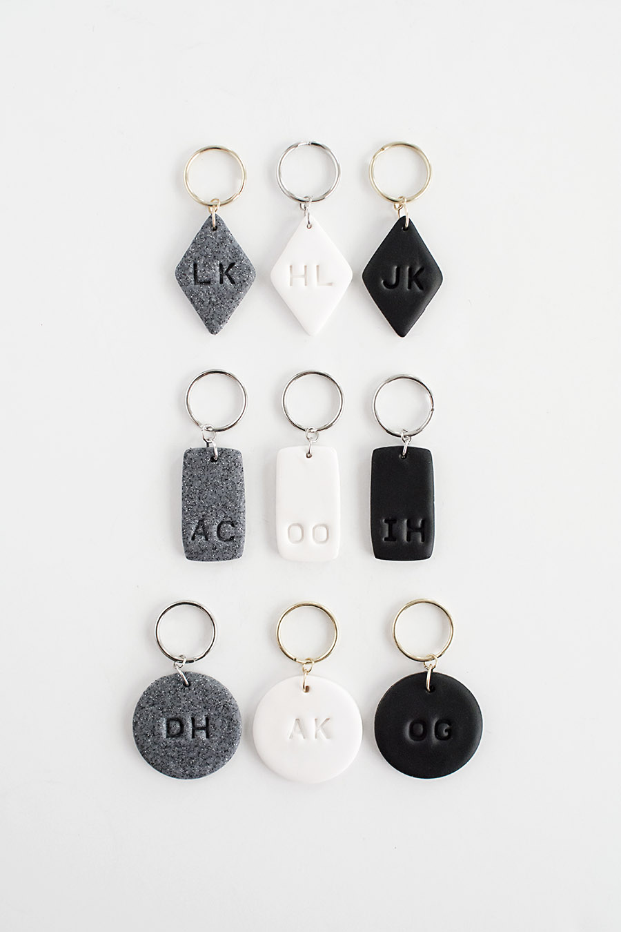 DIY - Monogram Clay Keychains