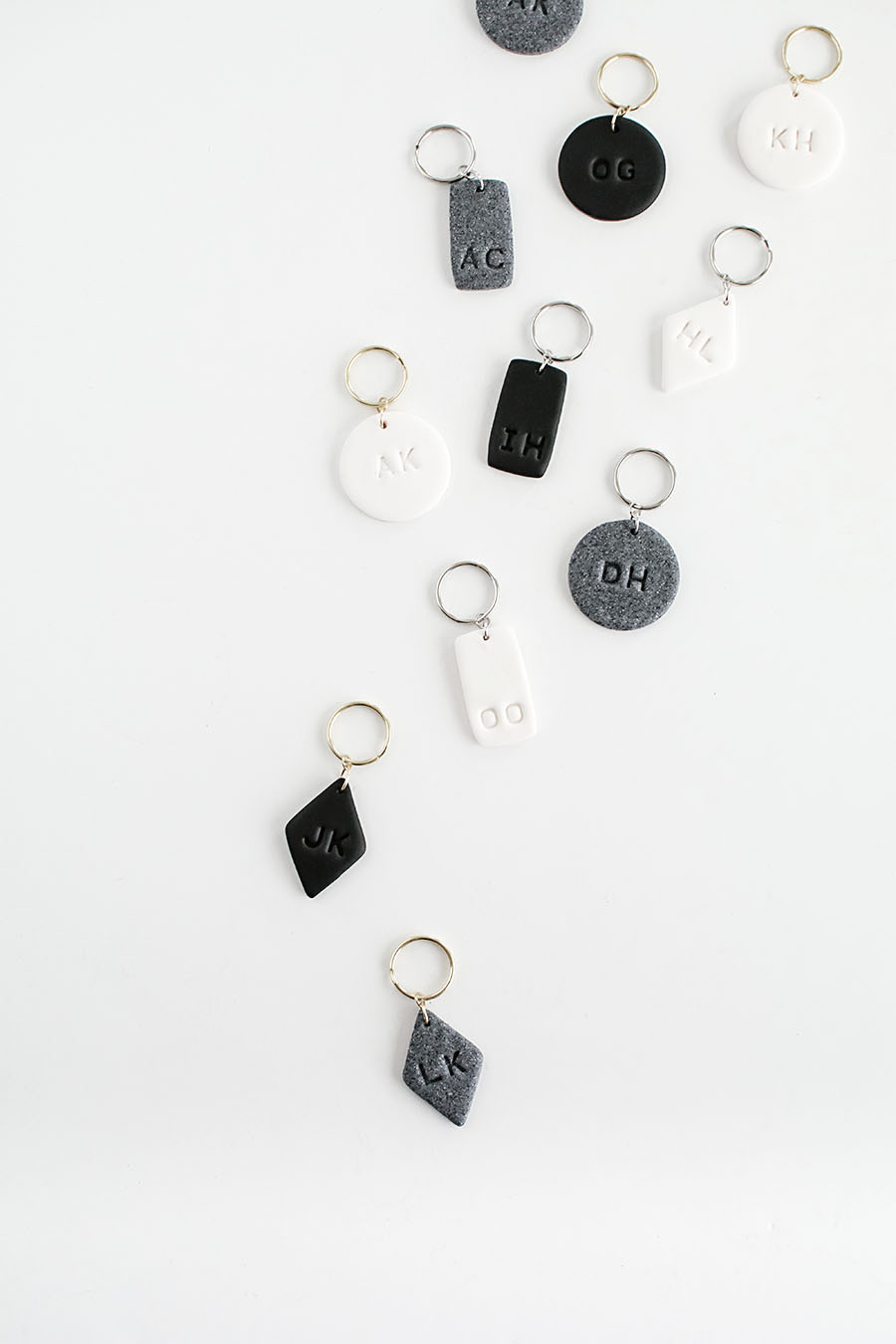 DIY- Monogram Clay Keychains