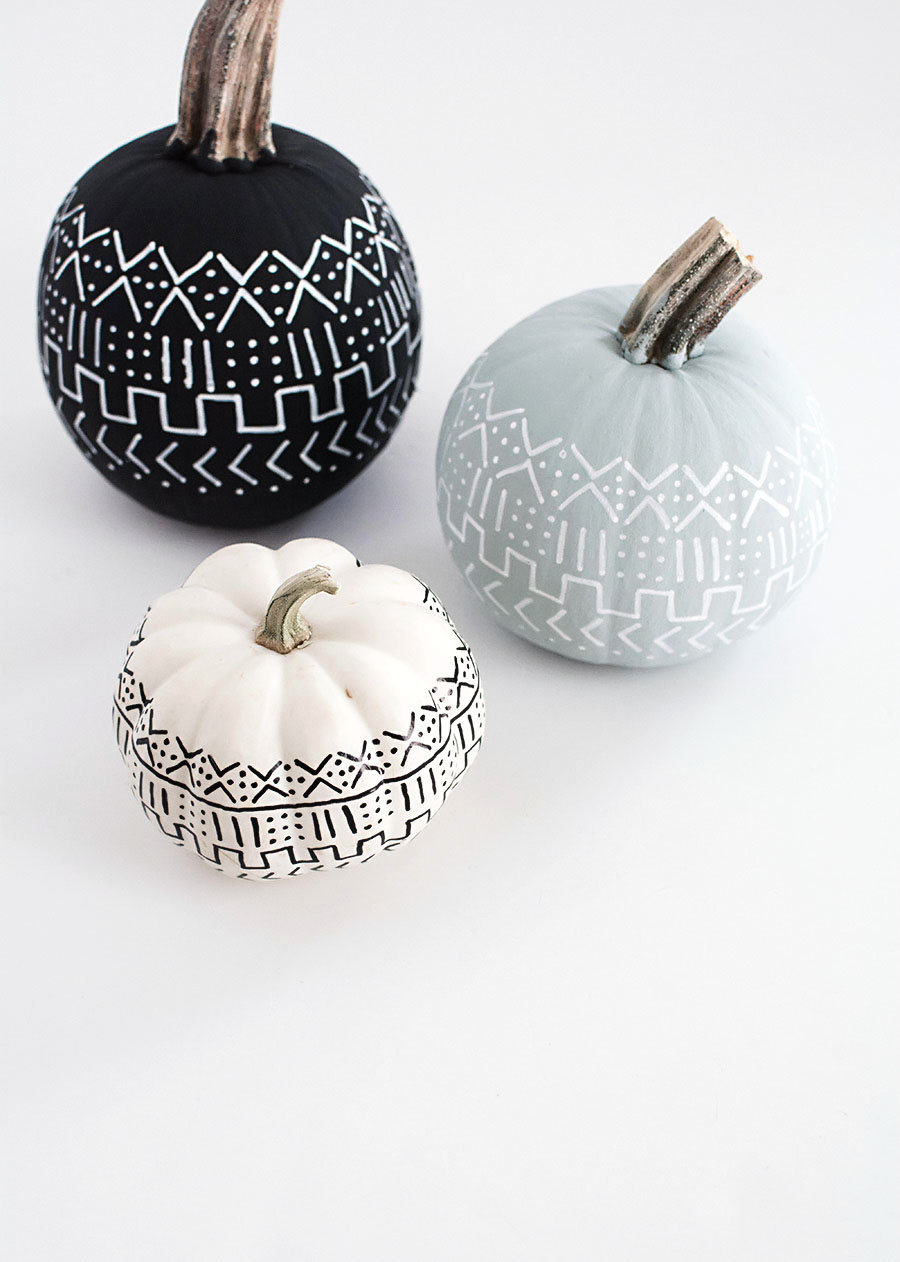DIY - Mud Cloth Pumpkins-2