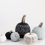 DIY Mud Cloth Pumpkins