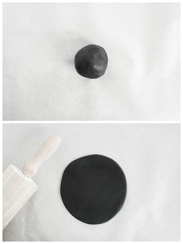 Flatten clay