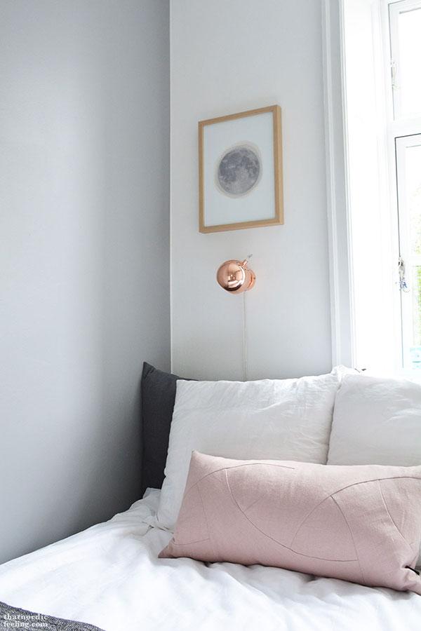 dusty rose lumbar pillow