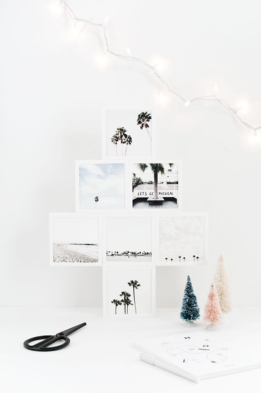 DIY Mini Photo Christmas Tree - Homey Oh My