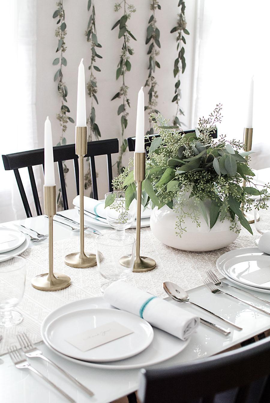 Neutral Fall table - Homey Oh My!