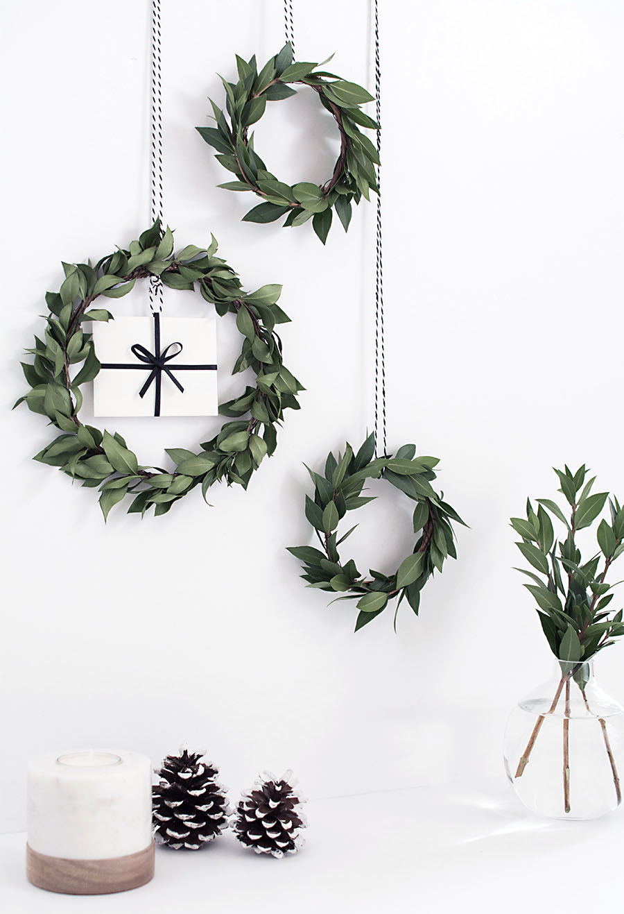 gift card mini wreath DIY