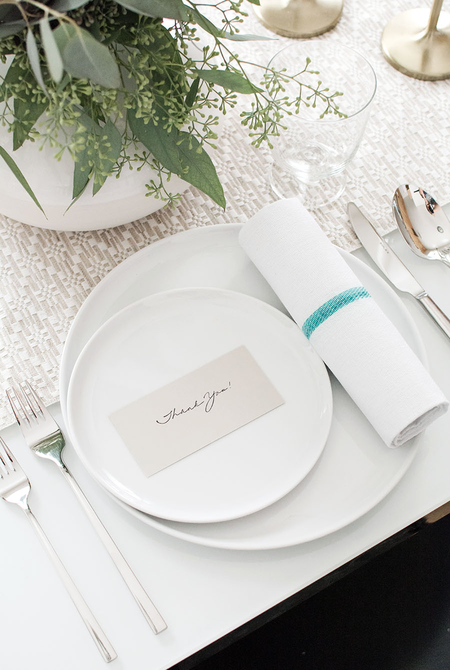 simple Thankgiving place card DIY - Homey Oh My!