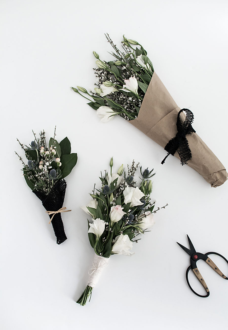 3 ways to wrap flowers