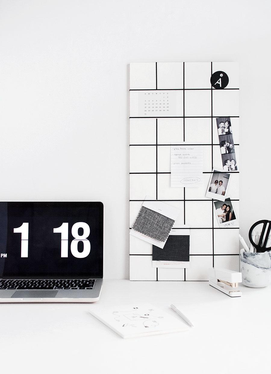 DIY memo board grid