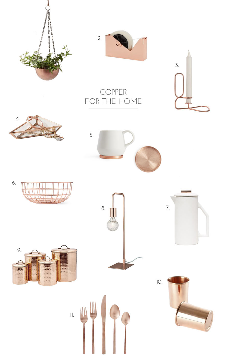 Copper for the home