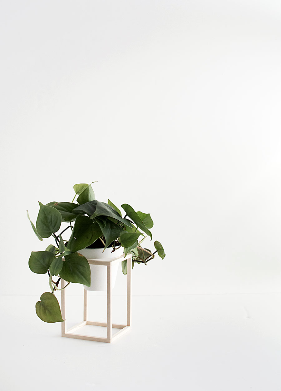 DIY Mini Wood Plant Stand