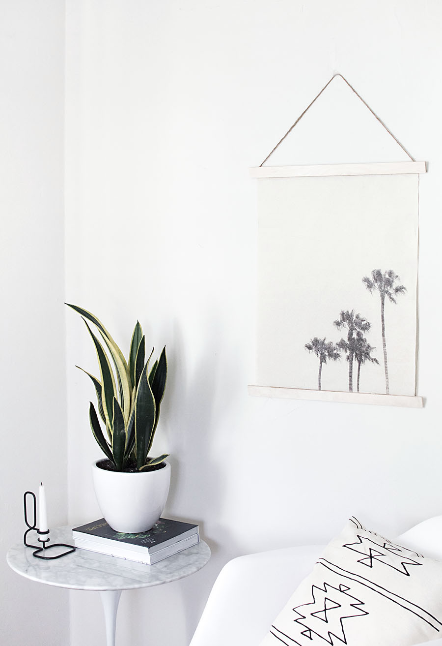 Image transfer wall hanging DIY