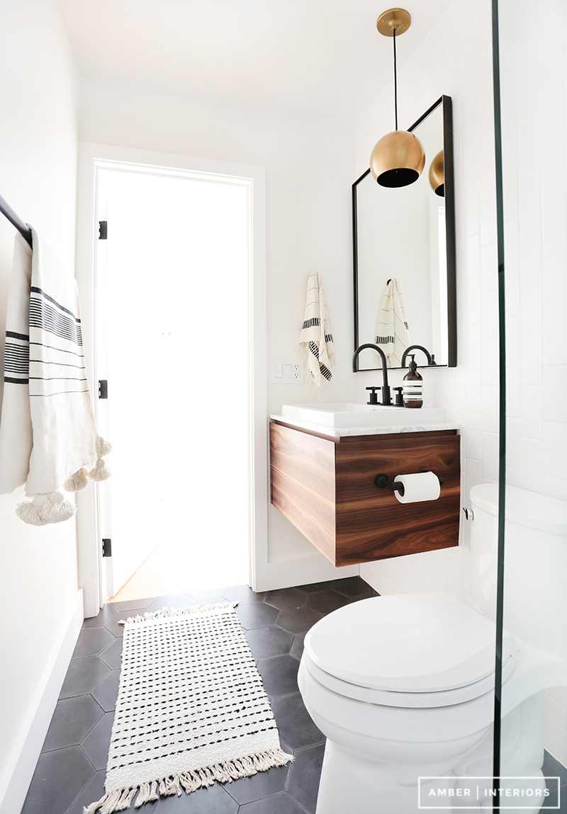 black hardware bathroom
