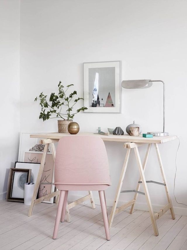 blush chair