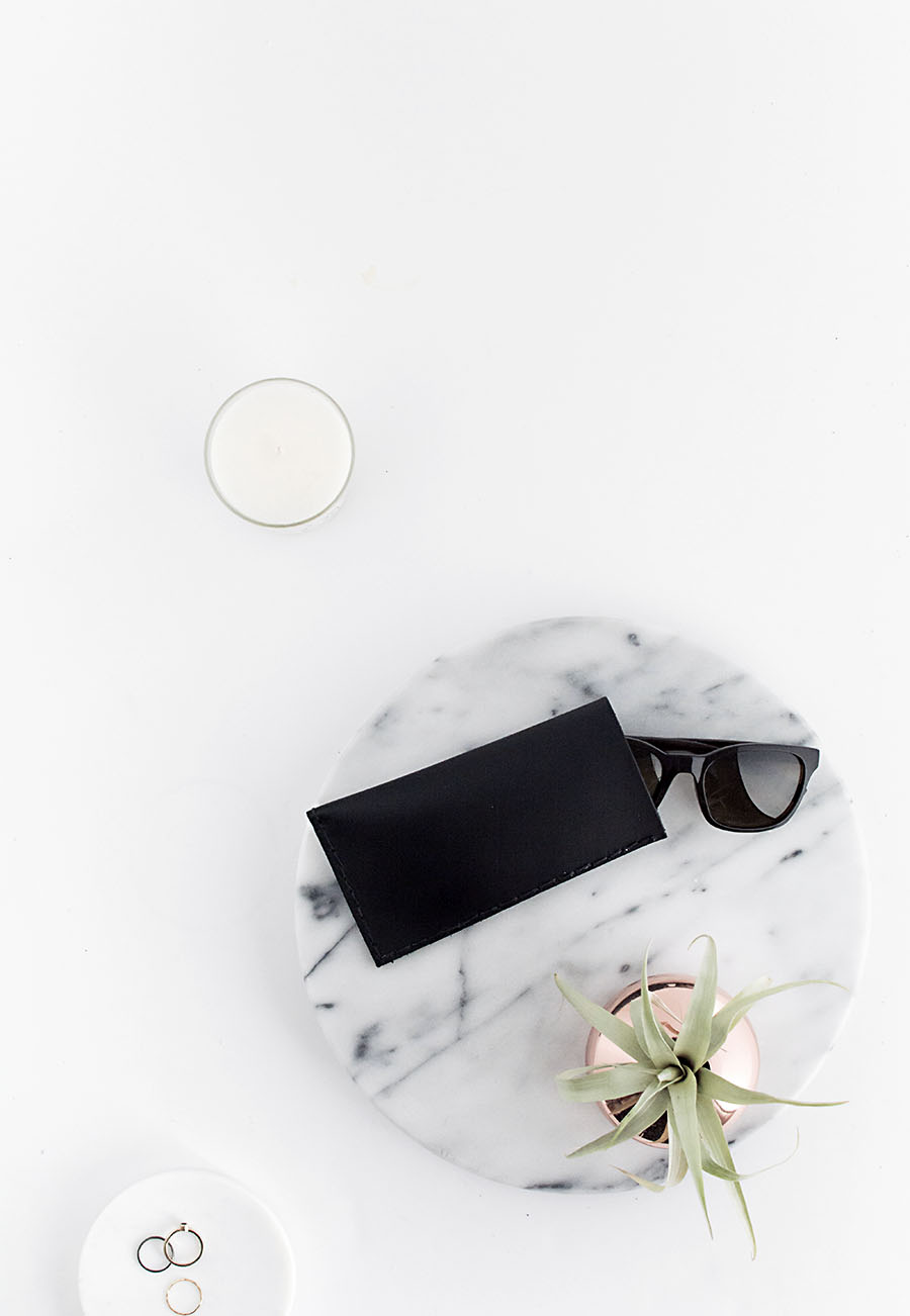 DIY Leather Sunglasses Pouch