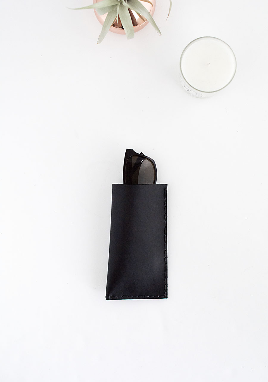 DIY - Leather Sunglasses Pouch