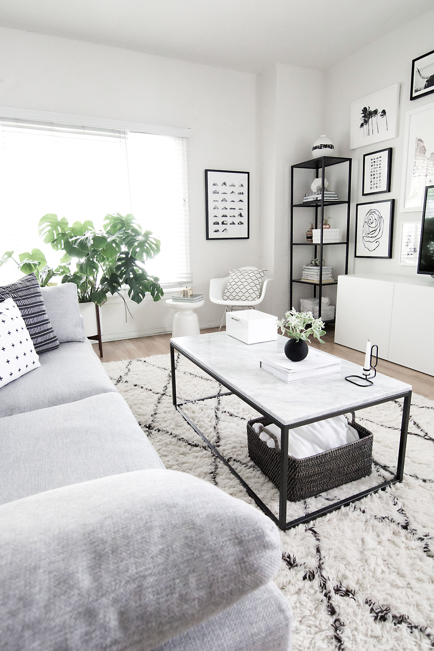 Monochrome living room