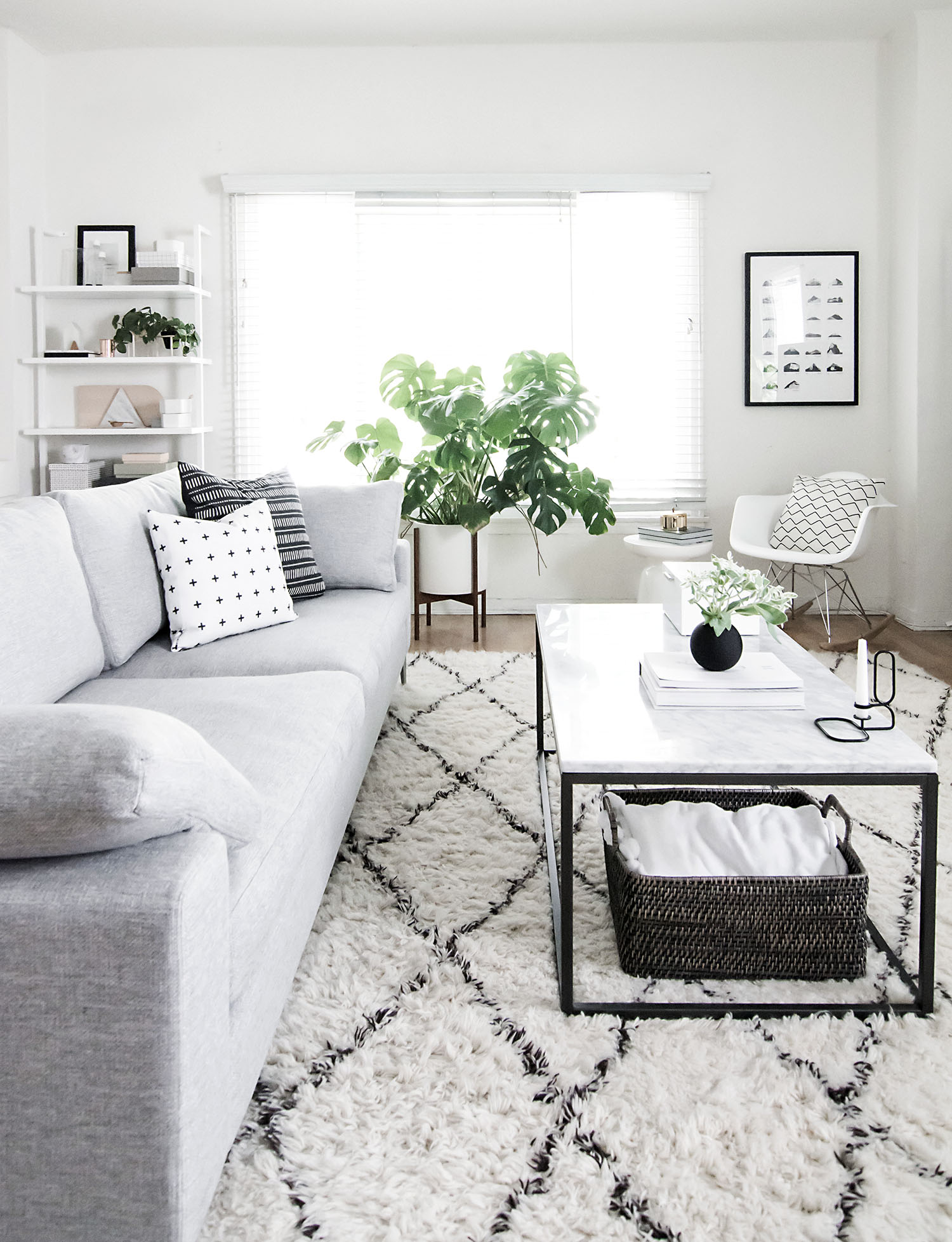 monochrome living room 2