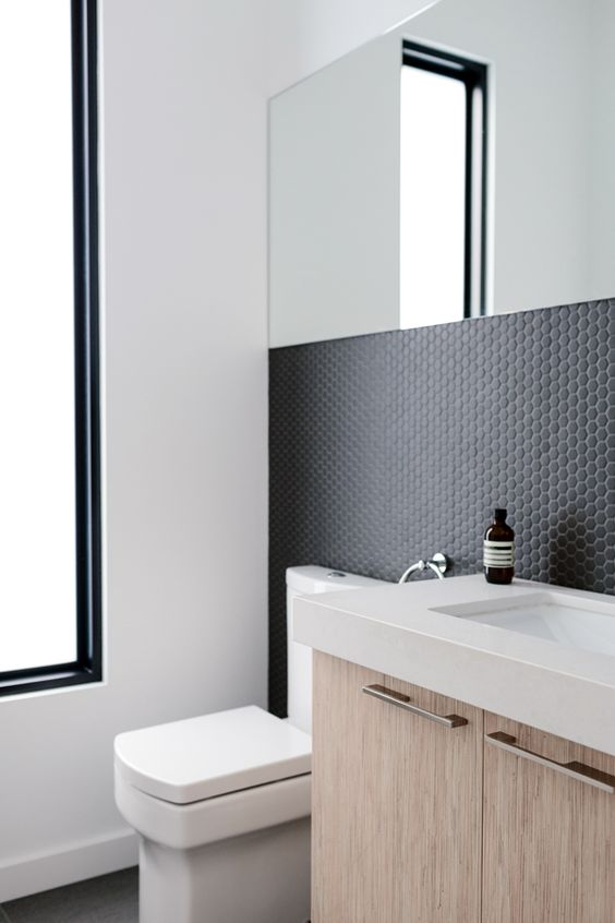 black hex tiles