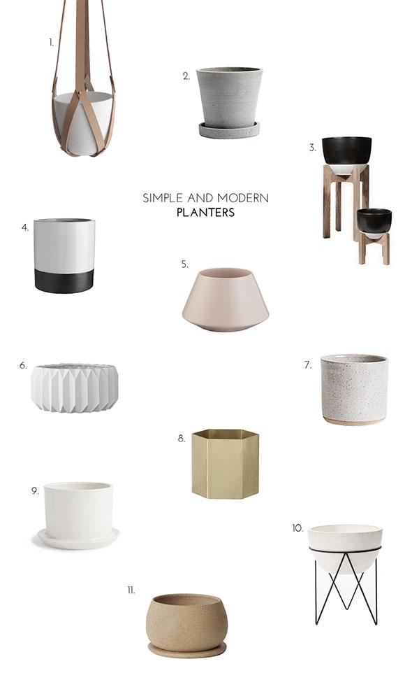 modern planters