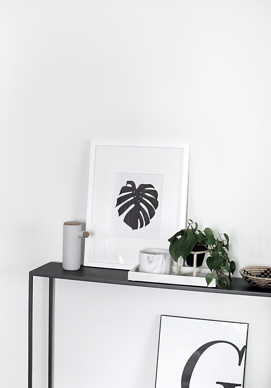 Free printable monstera art-6
