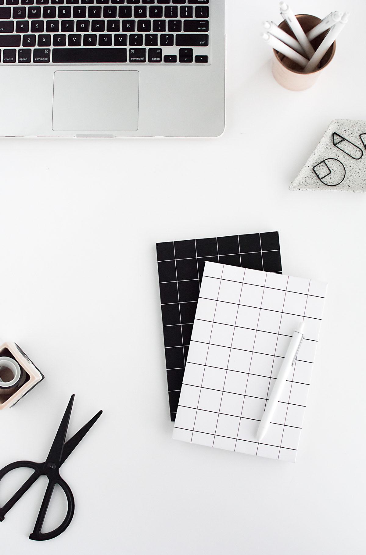 DIY grid notebook cover- free printable 2