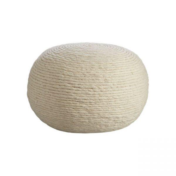 wool-pouf