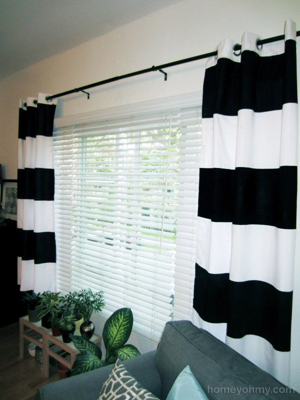 DIY Painted Window Curtains