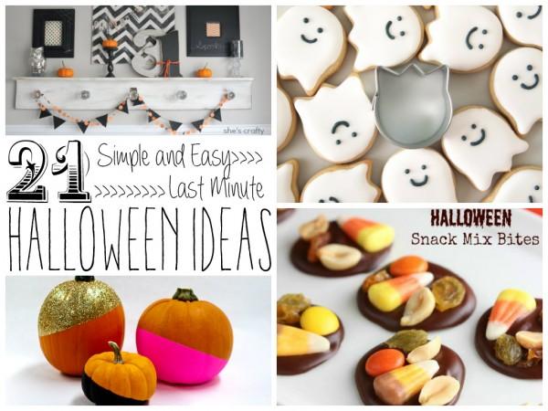 21 Simple and Easy Last Minute Halloween Ideas