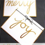 Gold Leaf Holiday Cards- Guest Post at Persia Lou!