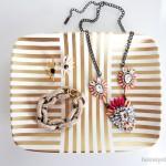DIY Gold Leaf Jewelry Tray- Guest Post at meganquint.com