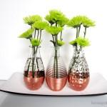 DIY Copper Dipped Vases