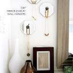 DIY Mirror Jewelry Wall Hangers