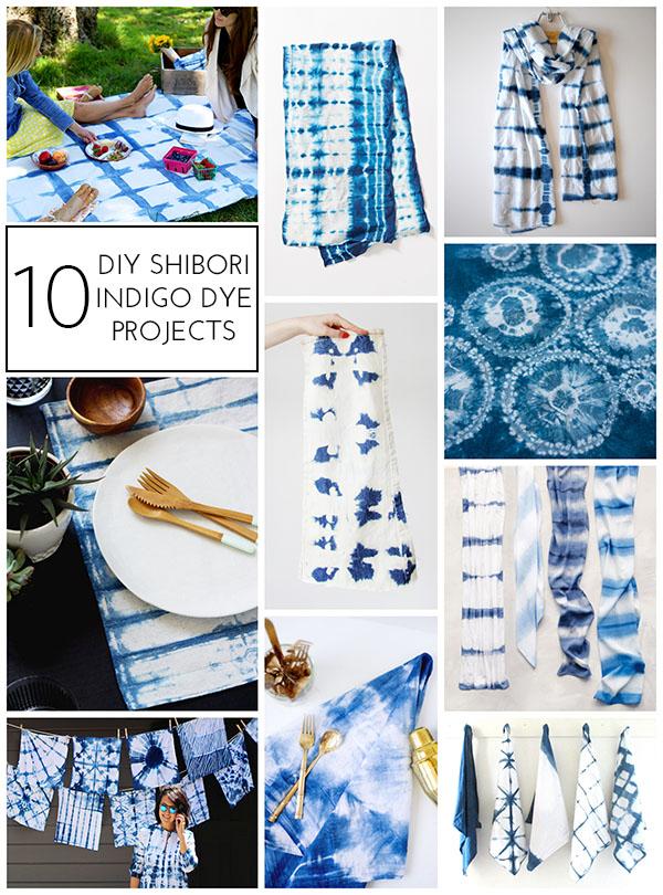 10 DIY Shibori Indigo Dye Projects