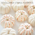 DIY Copper Striped Pumpkins
