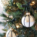 DIY Black, White, and Gold Ornaments