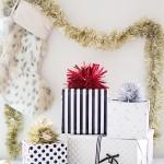 DIY Tinsel Pom Pom Gift Topper