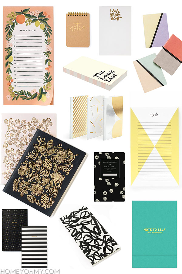 Cute notebooks and note pads