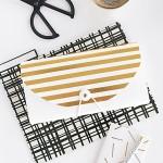 DIY Gold Striped File Folder