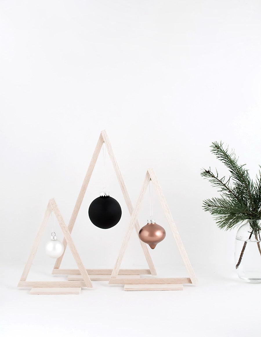 Mini Wood Christmas Trees