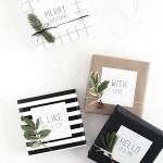 Easy Gift Wrap: Gift Tag Stickers