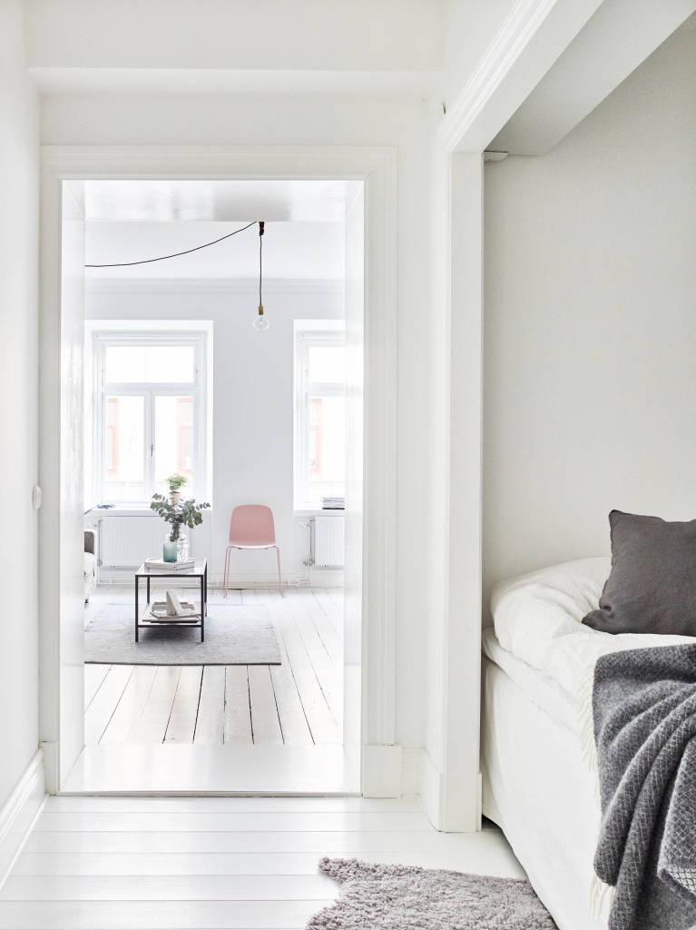 modern blush chair