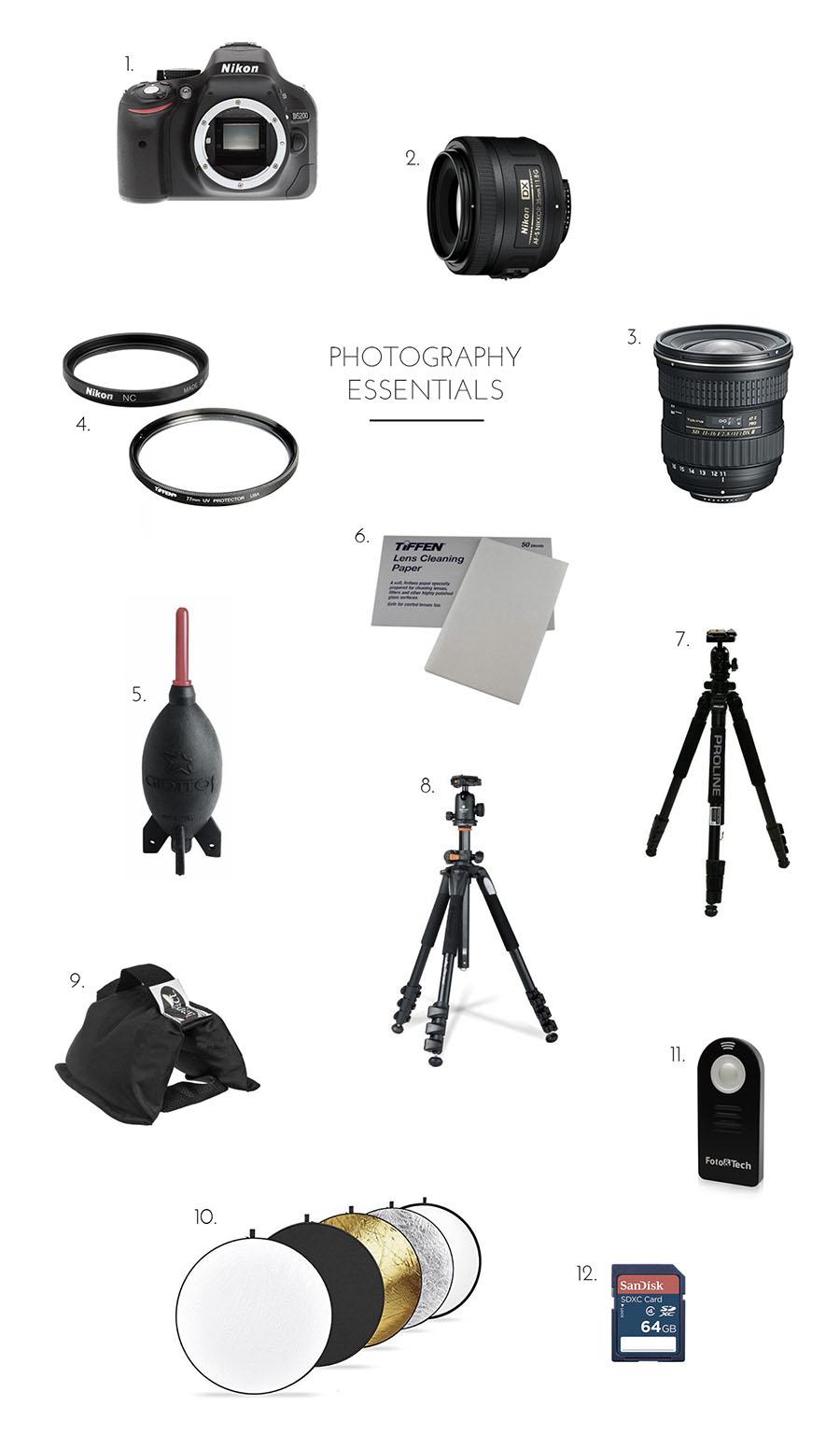 photography essentials